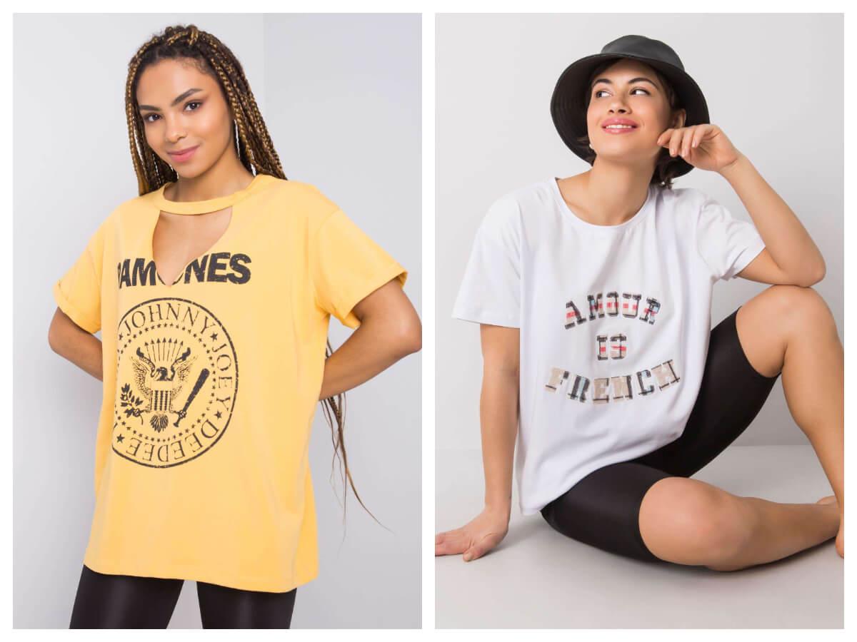 t-shirty oversize z nadrukiem
