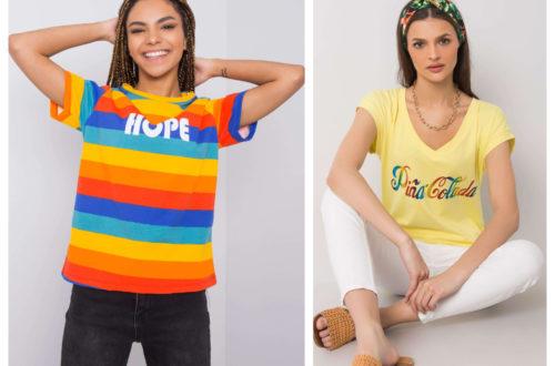 T-shirt z nadrukiem w letnich kolorach