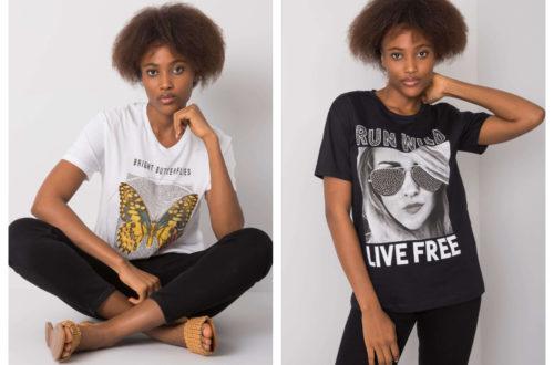 T-shirty z nadrukami czarne